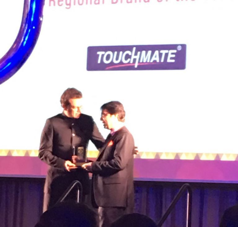 TOUCHMATE won Award for Best Regional Brand of the Year at VAR Choice of Channel 2016