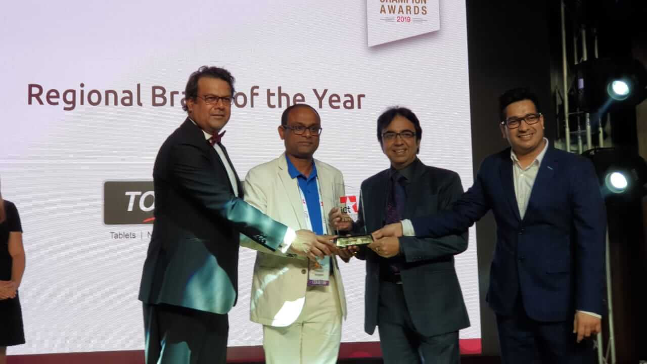 TOUCHMATE won Award for Regional Brand of the Year at ICT Champion Awards 2019